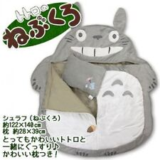 Ghibli My Neighbor Totoro Sleeping Bag Blanket Pillow Set JAPAN F/S