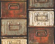 AS Creation Papier peint authentique murs 30220-1 stahlbox Boîte en métal