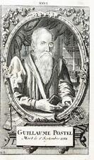 1765 Occulta Mystik Postel Guillaume Kupferstich-Porträt