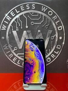 Apple iPhone XS 256GB Silver UNLOCKED (CDMA + GSM) NTAN2LL/A W/ 90 Day Warranty✓