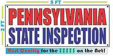 Pennsylvania State Inspection Banner Sign New Size Best Quality for the $