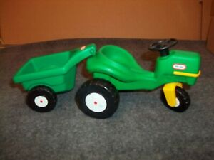 """Little Tikes Tractor Trailer 6"""" Green Dollhouse Size Replacement Piece to Stable"""