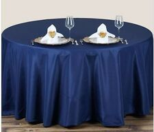 70 inch ROUND TABLE LINENS / TABLE CLOTHS  - NAVY BLUE - SHIPS FAST!