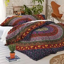 Indian Urban outfitter Purple Mandala Queen Bed Quilt Hippie Doona Duvet Cover