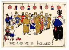 AD1952  WW2  LIBERATION HOLLAND DANCING WITH TROOPS POSTCARD