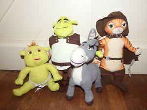 Shrek soft plush figure toy talking Puss in Boots Donkey Shrek Baby bundle