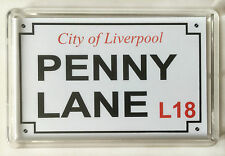 Liverpool fridge magnet, Penny Lane Street Sign, Beatles