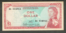 EAST CARIBBEAN STATES ND (1965) $1 ONE DOLLAR NOTE P13a