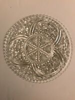 """Vintage Anchor Hocking Stars and Bars 12 3/4"""" Torte Plate"""