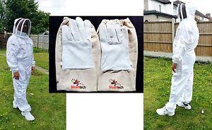 Beekeeper suit Beekeeping Bee Suit with Fencing Veil including Bee Gloves- XL