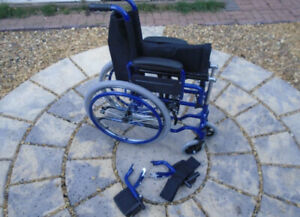 KIDS CHILDS SELF PROPEL WHEELCHAIR 12 inch SEAT with left elevating footrest