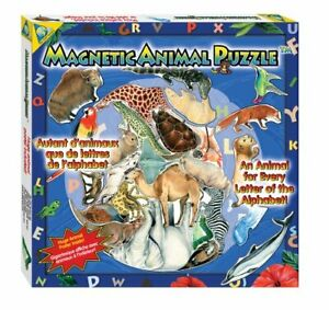 NEW ORB FACTORY Magnetic Magnet Alphabet A to Z Animal Puzzle & Poster 26 Piece