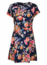 Knee Length Crew Neck Casual Floral Dresses for Women