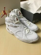 Brand New Air Jordan 8 x OVO US 9.5 White Gold Athletic Drake AJ8 Men Nike f5fedf94a6