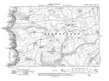 Old map of Morwenstow, Shop, Woodford 1907 - Cornwall, repro Corn-1-SW-SE