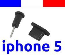 x1 LOT NOIR anti-poussière cache capuchon bouchon lightning pour iphone 5 5C 5S