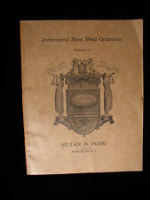 1893 ARCHITECTURAL SHEET METAL ORNAMENTS CATALOGUE B MILLER & DOING 1ST EDITION