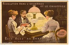 POSTCARD FRENCH ADVERTISING AGASOL LAMP AND HEATING OIL