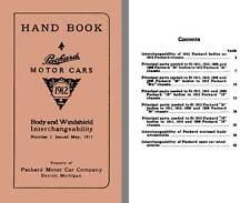 Packard 1912 - Hand Book Packard Motor Cars 1912 - Body & Windshield Interchange