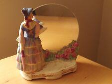 Vintage Crinoline Lady Figurine Freestanding Vanity Dressing Table Mirror.