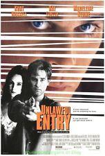 UNLAWFUL ENTRY MOVIE POSTER Original SS 27x40 MADELEINE STOWE KURT RUSSELL  1992