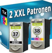 DRUCKER PATRONEN für CANON PG37+CL38 XL SPARSET PIXMA MP140 MP190 MP210 MP220