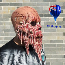 MENS HALLOWEEN HORROR MIME ZACK SCARY EVIL ZOMBIE CLOWN LATEX HEAD BLOODY MASK M