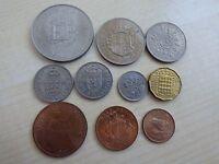 Elizabeth II Pre-Decimal Coin Set/ Collection Crown Half Crown Shilling Penny