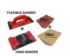 Hand & Flexible Sander With 30pc Sandpaer & 20pc Emery Paper Carpenter Wood