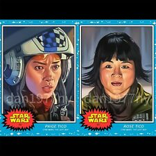 🛑👀 Topps Star Wars Living Set 2-card #89-90 Paige Tico & Rose Tico 🔥