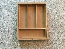 Large Utensil Drawer Organizer Wooden Expandable Kitchen Cutlery Junk