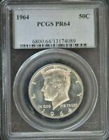 1964 - KENNEDY HALF SILVER DOLLAR - PCGS PR68 - GEM