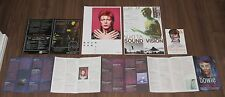 David Bowie Japan 5 x official Promo flyer / leaflet / postcard Set! mini poster