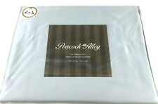 Blue KING Sheet Set CERTIFIED EGYPTIAN Cotton Sateen 500TC Peacock Alley New