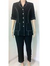 Designer *Maria Rossi* Hosen-Anzug *7/8-Länge *Business/Freizeit*schwarz*Gr. 38