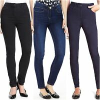 M&S size 8 Reg Jeggings 5 Pocket Added Stretch Skinny Jeans On Waist Indigo Blue