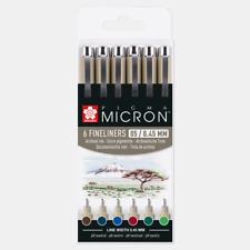 Sakura Pigma Micron 05   0.45mm Line   Pack 6   Earth Colours