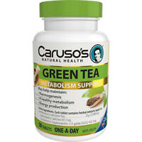 CARUSO'S GREEN TEA METABOLISM SUPPORT ENERGY HERBAL ANTIOXIDANT 50 TABLETS