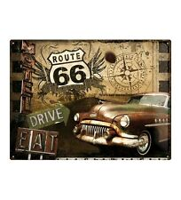 Metal Sign Route 66 Collage (40 x 30 cm)
