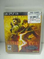Resident Evil 5: Gold Edition - PS3 **BLACK LABEL** Very Good Complete