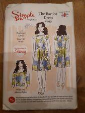 Simple Sew Bardot Dress sewing pattern 012 size 8-20  UNCUT