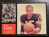 1962 Topps #63 Bart Starr Green Bay Packers Football Card