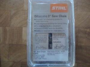 Stihl oil O matic 3 Saw Chain 62 drive links.