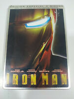 Iron Man Robert Downey Jr Marvel Steelbook DVD + Extra Spagnolo Inglese