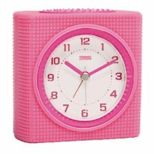Balance Quartz alarm clock pink rubber housing