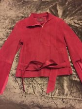 Lovely Pink Leather Suede Jacket By Olly And Co Size 10