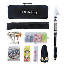 Portable Spinning Telescopic Fishing Rod Reel Combos Full Kit With Fishing Acces
