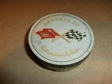New listing Vintage Chevrolet Chevy Corvette BelAir Classic Cars Drink Coaster Tin Set of 4