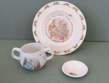 Lot of 3 Collectible Ceramics Bunnykins 1936 Plate, Wedgwood Peter Rabbit & Jack