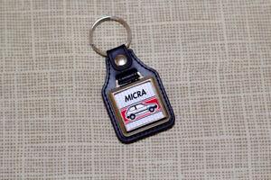 Nissan Micra K10 Keyring - Leatherette & Chrome Keyfob